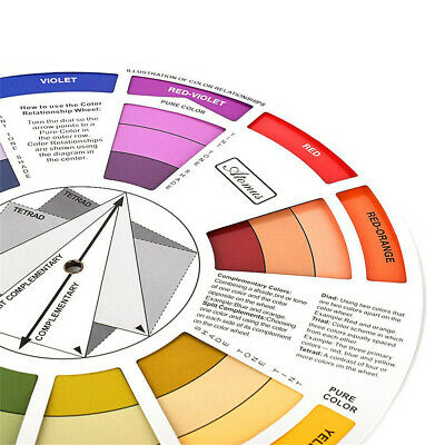 Mixed Color Matching Guide Wheel Colors Mixing Chart for Blending Craft Tool