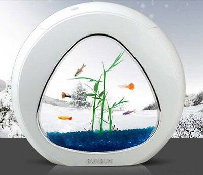 Sunsun Ecology Mini Nano Fish Tank Aquarium with Built-in Filter and LED Light