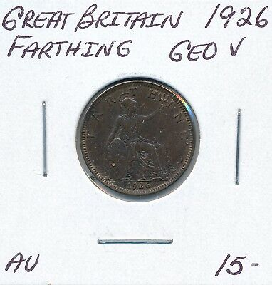 Great Britain  Farthing 1926 George V - Au