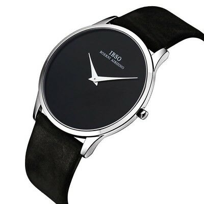 Watches Luxury Dial Genuine Leather Strap New Watch Men Fashion Simple Watch