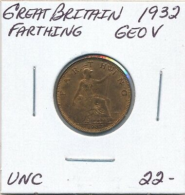Great Britain  Farthing 1932 George V - Unc
