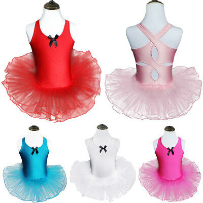 Girls Ballet Dance Dress Tutu Criss Cross for Kids Gymnastics Leotard Costume