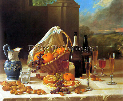 John F Francis Luncheon Still Life Artist Painting Oil Canvas Repro Art Deco