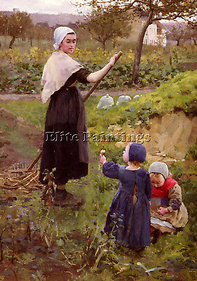 Jameson Middleton Mor Her Daughters Kitchen Garden Artist Painting Oil Canva Art