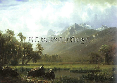 Bierstadt17 Artist Painting Reproduction Handmade Oil Canvas Repro Wall Art Deco