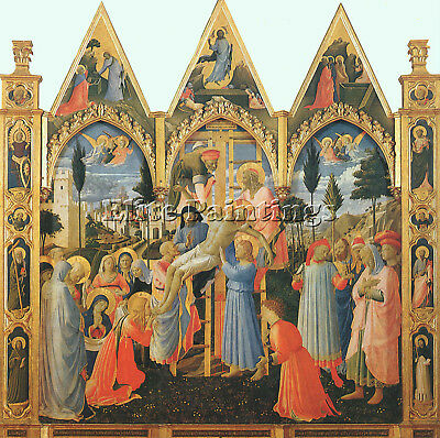 Fra Angelico C6 Artist Painting Reproduction Handmade Oil Canvas Repro Art Deco
