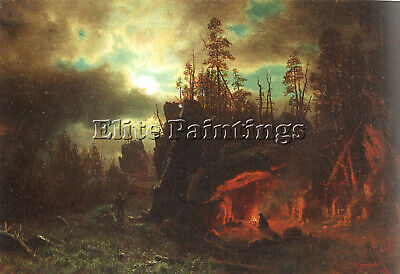 Bierstadt10 Artist Painting Reproduction Handmade Oil Canvas Repro Wall Art Deco