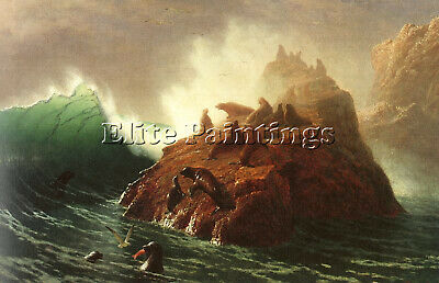 Bierstadt24 Artist Painting Reproduction Handmade Oil Canvas Repro Wall Art Deco