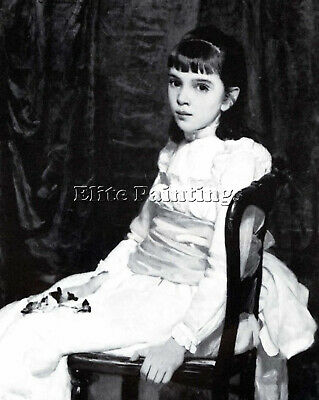 Little Girl Artist Painting Reproduction Handmade Oil Canvas Repro Wall Art Deco