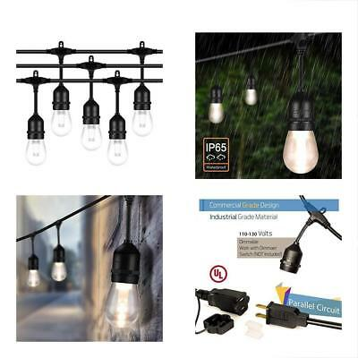 52FT LED Indoor String Lights Outdoor - 2W Dimmable Vintage Edison Bulbs Heavy X