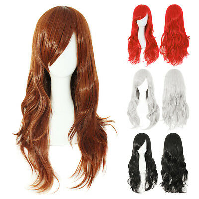 Women Long Hair Full Wigs Natural Curly Wavy Party Costume Cosplay Wig Halloween