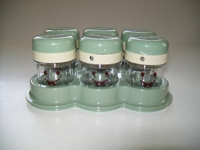 Baby Magic Bullet 6 Date Dial Storage Cups with Lids and Tray Replacement Part