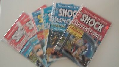 """""""Shock and Suspense Stories"""" Lot of 6 1990's Printing. Excellent Condition"""