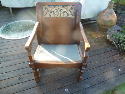 Arts & Crafts Shapland and Petter Metamorphic Chair & Side Table c1900