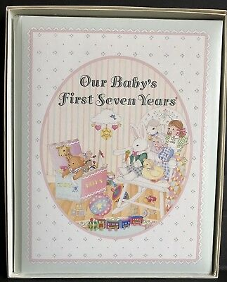 Vintage Our Baby's First Seven Years CR Gibson Baby Keepsake Memory Book 1989