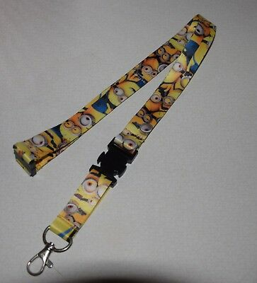 despicable me minions lanyard Full Size Badge Holder key chain