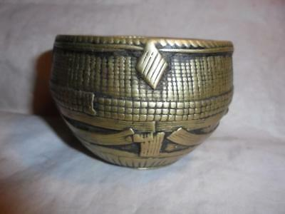Antique / Vintage African Benin Tribe Small Bronze Bowl