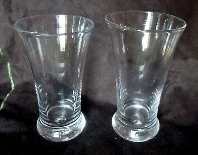 PAIR Williamsburg Restoration Blenko Tavern Glasses   OLD!!