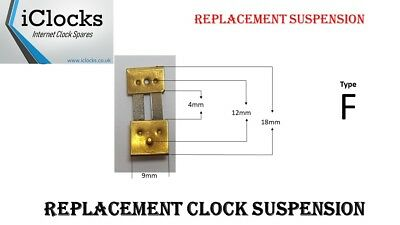 Brass Clock Pendulum Suspension Spring. (Type F) UK Seller