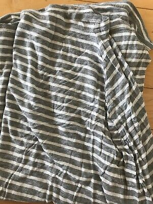 Covered Goods Nursing Cover Gray White Stripe