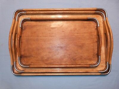 Made in Occupied Japan Wooden Nesting Trays - Set of 3 by Chrissy Tray