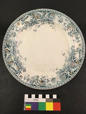 Three (3) Hollinshead & Kirkham DORIS Plates H&K Unicorn Pottery Transferware