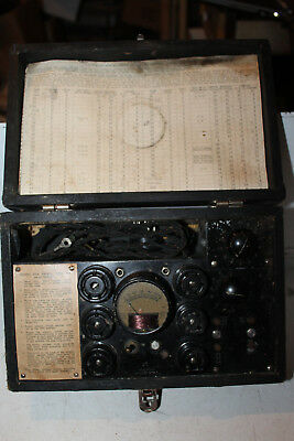 Vintage Readrite Radio Tube Checker Tester Model 407 Rare