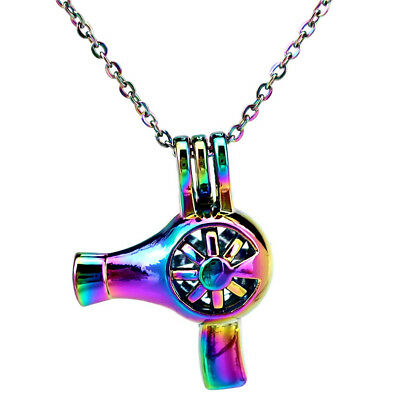 2X Rainbow Color Dragonfly Pearl Beads Cage Essential Oil Diffuser Pendant DIY