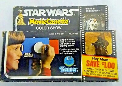 1977 Star Wars Movie Cassette Color Show Battle In Hyperspace With Box Kenner