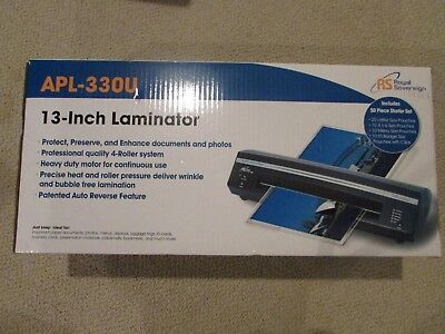 Royal Sovereign APL-330U 13 inch  Desktop Hot/cold  Professional Laminator - NIB