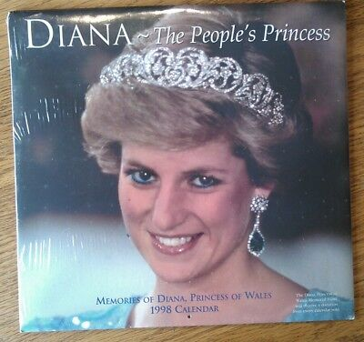 Diana The People's Princess 1998 Memorial Calendar 12 Pictures For Each Month