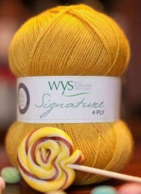West Yorkshire Spinners Signature 4 Ply Yarn Wool 100g - Butterscotch (240)