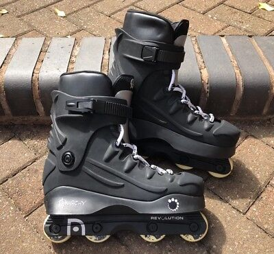Men's Anarchy Revolution Aggressive Inline Skates Roller Blades UK 7 EU 41 Black