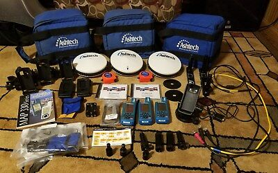 Set of 3 pre-owned Ashtech ProMark 2 GPS surveying systems w/ 3 Magellan Map 330