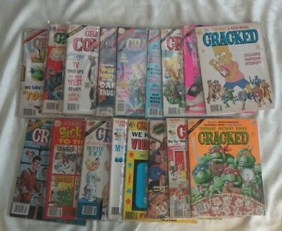 """""""Cracked"""" Magazines 1983 - 1990 Lot of 17 .Good Condition"""