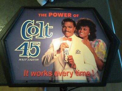 Colt 45 Black Americana Beer Light Heileman Brewing Lacrosse WI Billy D Williams