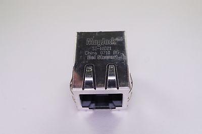 SI-10021 Stewart Connector Modular Connector Magjack 10/100 Base-T Right Angle