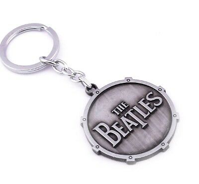 The Beatles Logo Metal Keyring - Silver