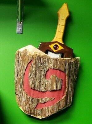 Legend Of Zelda: Young Link Shield And Sword - Custom Wood