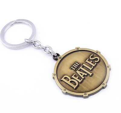 The Beatles Logo Metal Keyring - Bronze