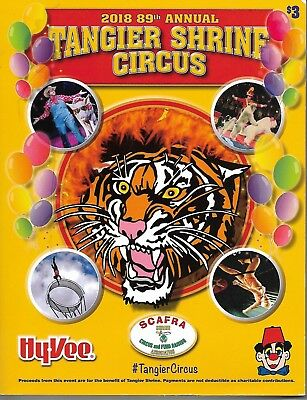 2018 89th Annual Tangier Shrine Circus Program & Coloring Book - Omaha, NE