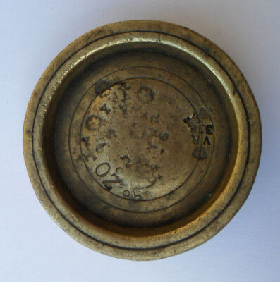 Rare Antique Victorian Brass Weight - 4 oz Cawood, Wistow & Otley Liberty / YWR
