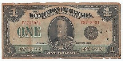 1923 Dominion of Canada $1 Ottawa DC-25o Campbell-Clark Large Note A4898