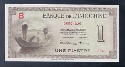 French Indo-China, 1945, 1 Piastre, P-76a, CRISP UNC!!