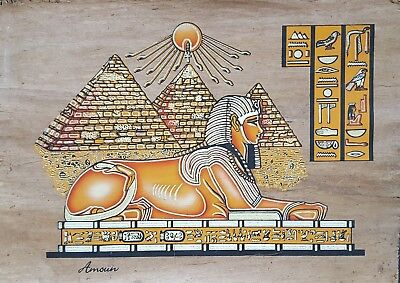 Great Sphinx Original Hand-paintings 100% Egyptian Papyrus  10 Large $110