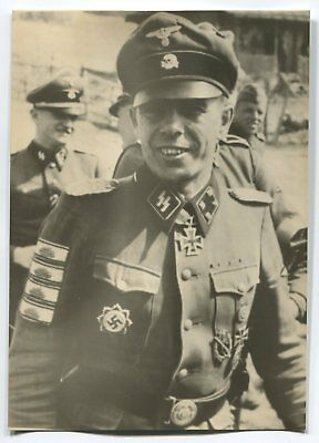 German Wwii Photo From Archive: Elite Troops Officer - Tankman, Name