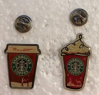 Starbucks Holiday Pins - Pass the Cheer & Holiday Red Cup - Japan - US seller