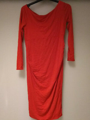 ASOS size 8 body con maternity dress- orange. Worn once, excellent condition
