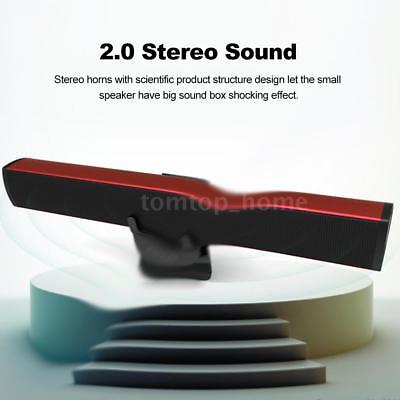 Portable Super Bass Sound Bar TV Wired USB Powered Home  Loudspeaker For PC W7O0