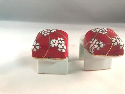 Vintage  Porcelain Geisha Girl Sandals Slippers Shoes Salt & Pepper Shakers